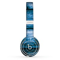 The Grunge Blue Wood Planks Skin Set for the Beats by Dre Solo 2 Wireless Headphones