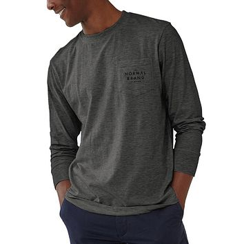 Long Sleeve Vintage Bear T in Tri Blend Grey by The Normal Brand - FINAL SALE