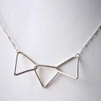 Supermarket - 3 triangle necklace from  : metalnat : by natalia gomensoro