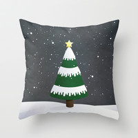 Christmas Tree Throw Pillow by Sara Showalter