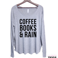 Coffee Books & Rain Long Sleeve