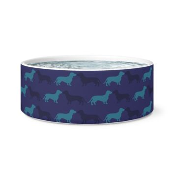Ceramic Dog Bowl - Pup Patterns