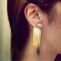 Statement Tassel Long Earrings