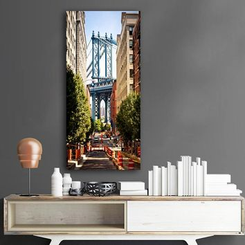 New York City streets buildings Scenery Poster Inch Canvas Painting Wall Art Picture for Living Room No Frame FA356