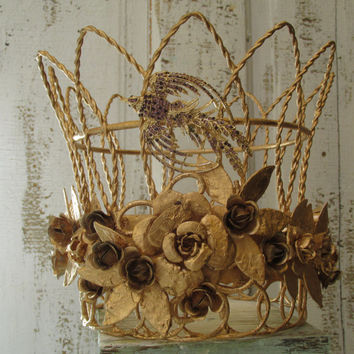 Metal Crown Sculpture For Statues Or Home Decor Made From All Re