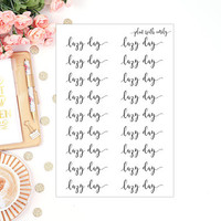 Lazy Day | Script Font Stickers