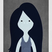 "Marceline, the Vampire Queen character Portrait, 12"" x 18"" Adventure Time Posters"