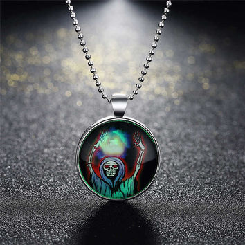 New Arrival Shiny Jewelry Stylish Gift Accessory Skull Terrible Noctilucent Necklace [8065790017]