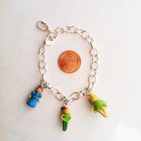 Disney's Peter Pan Inspired Clay Charm Bracelet by aWishUponACharm