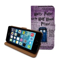 Beanbeancase Doctor Who Tardis Police Box Harry Potter Flip Pu Leather Cover Case for iPhone 6 Plus (K31)