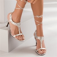 Flame by Dyeables 40622 | Prom Shoes | Prom Dresses | Silver Prom Shoes | Flame by Dyeables 40622 | GownGarden.com