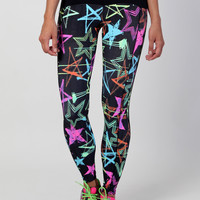 Leggings L770 Shinny Star
