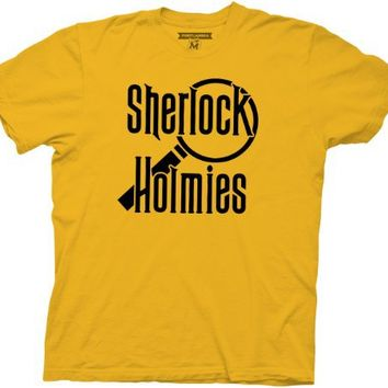 Portlandia Sherlock Holmies Mustard Yellow Mens T-shirt
