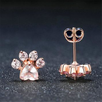 Trendy Cute Cat Stud Paw Earrings