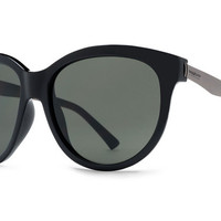VonZipper - Cheeks Black Gloss BKV Sunglasses, Vintage Grey Lenses