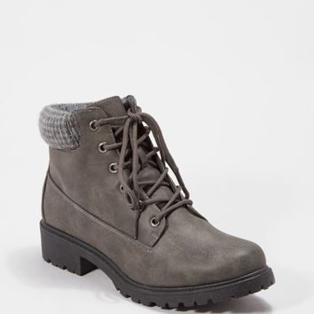 Gray Lug Knit Cuffed Hiking Boot | Hiking Boots | rue21