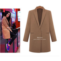 New Women's Wool Cashmere Long Winter Parka Trench Coat Outwear Warm Jacket