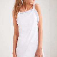 Cooperative Dollie Poplin Ruffle Trim Dress | Urban Outfitters