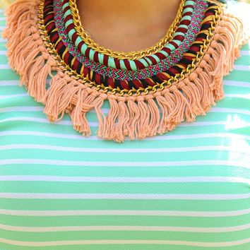 Keeping Up With You Necklace: Multi