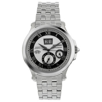 Seiko Premier Silver Dial Stainless Steel Mens Watch SNP047
