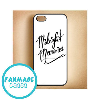 Midnight Memories cursive 4/4s 5/5s/5c & iPod 4/5 Rubber Case