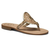 Georgica Sandal in Cork and Gold by Jack Rogers