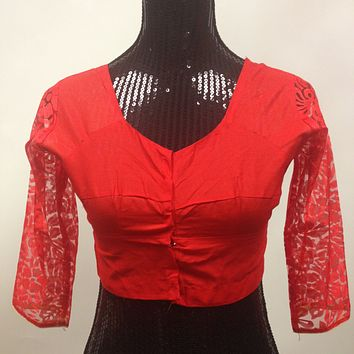 Net Blouse - Red
