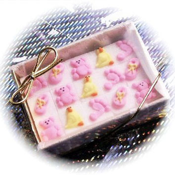 48 Decorated Sugar Cubes- Baby Girl