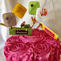 Celebrate Glass Cake Testers by Design4Soul