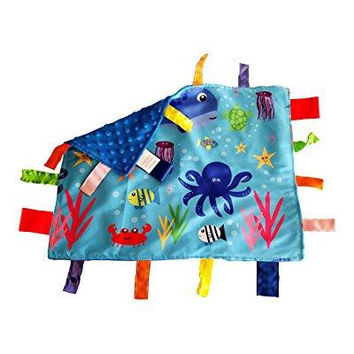 Lovey Security  blanket sensory tag toy