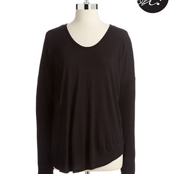 Lord & Taylor Petite  V Neck Dolman Top