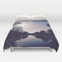 Venice Canals By Sunset Duvet Cover by Love Lunch Liftoff