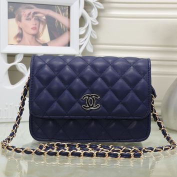 CHANEL Women Fashion Leather Chain Satchel Shoulder Bag Handbag Crossbody