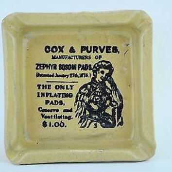 Retro Cox & Purves Advertising Ashtray