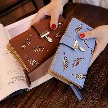 DALFR PU Leather Wallet Women Christmas Gift Luxury Female Clutch Fashion Leather Purse Designer Bags High Quality Ladies Bags
