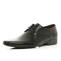 River Island MensBlack pointed formal shoes