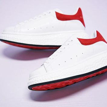 alexander mcqueen sole sneakers white red m267