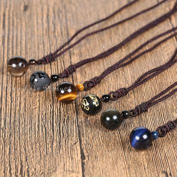 """Free"" Tiger Eye Stone Lucky Amulet"