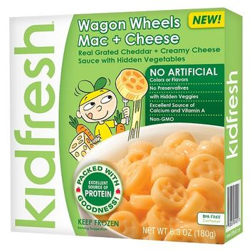 Kidfresh Wagon Wheels Mac + Cheese 6.3 oz