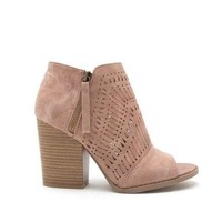 Twinkle Of My Eye Peep Toe Ankle Booties in Warm Taupe