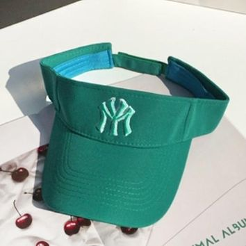 NY Fashion New Embroidery Letter Women Men Sun Protection Cap Hat Green
