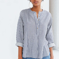 BDG Taylor Striped Button-Front Shirt - Urban Outfitters
