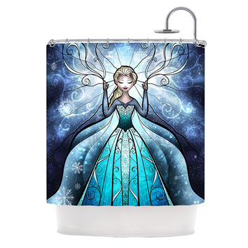 "Mandie Manzano ""The Snow Queen"" Frozen Shower Curtain"