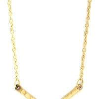 You Boomerang? Necklace in Gold | Mod Retro Vintage Necklaces | ModCloth.com