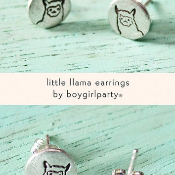 Llama Earrings (Sterling Silver)