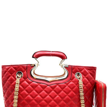 Quilted Satchel Set