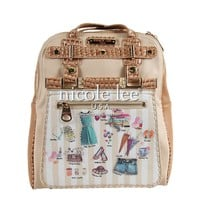 SYBIL DOLLHOUSE STRIPED PRINT MINI BACKPACK PURSE WITH DETACHABLE ZIP POCKET - NEW ARRIVALS