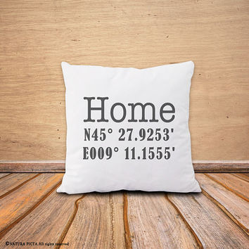 Coordinates pillow-geographical pillow cover-home pillow-custom coordinates pillow cover-home decor-housewarming gift-NATURA PICTA-NPCP045