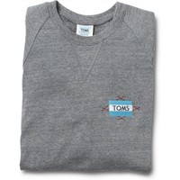 Women's Heather Grey Embroidered Crew