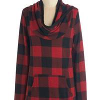 Mid-length Long Sleeve The Good, the Plaid, and the Snuggly Top